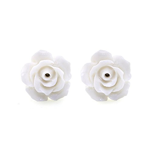 JewelrieShop Handcrafted Women Girls Camellia Design Studs Earring, Assorted Flowers Ear Rings
