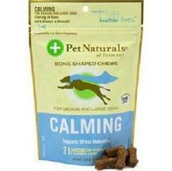 Pet Naturals Of Vermont Calming Treat For Medium & Large Dogs chicken liver flavor 21 Count