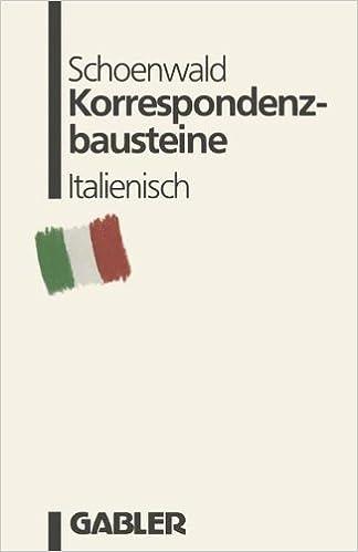 Korrespondenzbausteine Italienisch