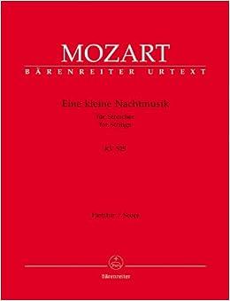 モーツァルト: アイネ・クライネ・ナハトムジーク(小夜曲) KV 525/ベーレンライター社/スコア