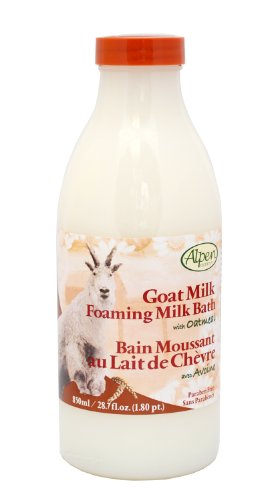 Alpen Milk - Alpen Secrets Goat Milk Foaming Milk Bath with Oatmeal, 28.7 -Fluid Ounce (Pack of 2)