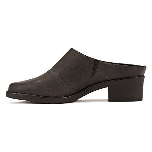 Gående Vaggor Kvinna Caden Täppa Svart Bekymrad Läder