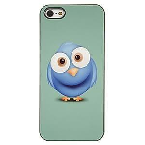 HOR Patrón especial Búho azul PC caso duro con 3 Almuerzos Protectores HD de pantalla para iPhone 5/5S