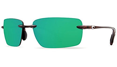 Costa Oyster Bay Sunglasses & Cleaning Kit Bundle Shiny Tort / Green Mirror 580p