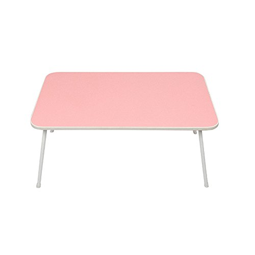 GFL Portable Folding Laptop Desk Length 58cm Width 35cm Height 30cm Computer Tables (Color : Pink) by GFL