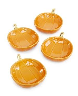 Martha Stewart Pumpkin Salt Cellar bowls set of 4