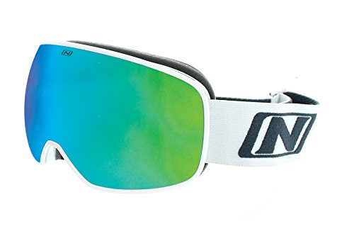 Optic Nerve Goggles - Optic Nerve Goggles (Shiny White / Amber with Green Zaio Mirror, Small)