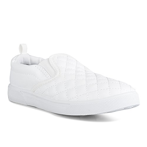 Chillipop Kids & Toddlers Fashion Sneakers – Slip On, Quilted, Faux Leather