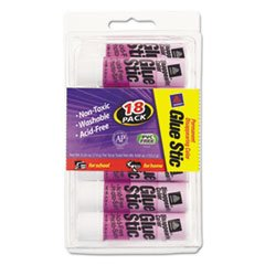 (6 Pack Value Bundle) AVE98079 Purple Application Permanent Glue Stics, 0.26 oz, 18/Pack ()