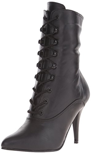 Faux Pleaser Donna 1020 Leather Nero Stivaletti Vanity Blk vYrxYz