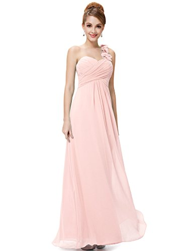 Ever Pretty Womens Sleeveless Sweetheart Neckline Long Ruched Evening Gown 8 US Pink