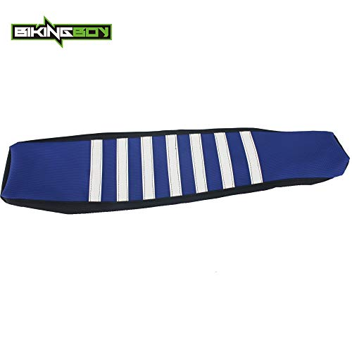 |Seat Covers|MX Motocross Offroad Stripes Ribbed Gripper Soft Seat Cover for Yamaha YZF250 YZF YZ-F 250 450 YZF450 YZ450F 14 15-17|by AZUDAN|