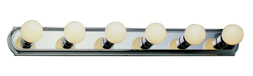 Bel Air Vanity Light - Trans Globe Lighting 3236 ROB 6-Light Basic Strip Bathroom Bar Light, Rubbed Oil Bronze