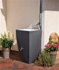 Regentonne / Regenwassertank 200 L REWATEC Modena black granit