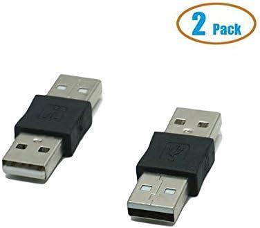Huele 2 Pack USB 2.0 tipo A macho a USB mal adaptador convertidor ...