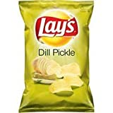 Canadian Lays 27pk Dill Pickle Flavour Chips (66g/ 2.32oz per pack)