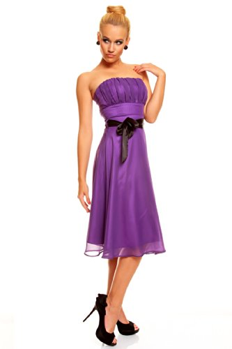 Ballkleid Abendkleid Lila bis Chiffon Festkleid Knielanges Bandeau XXL XS Kleid Cocktailkleid q1tv4v8Iw