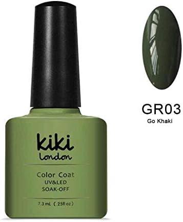 Kiki London, gel de uñas verde caqui (otoño invierno), colores UV/LED