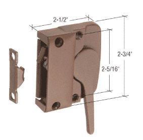C.R. LAURENCE H4025 CRL Bronze Left Hand Sash Lock for Andersen Windows