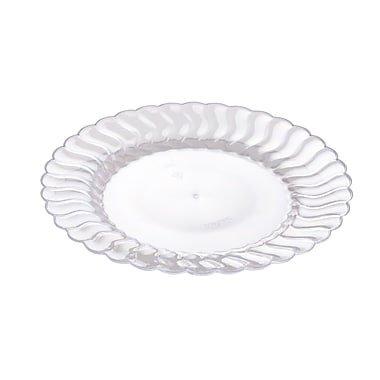 Eleganti piatti di plastica dura–Shell Edged China look–trasparente–19, 1cm (19cm)–Confezione da 18 Fineline