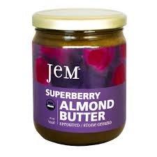 JEM - USDA Certified Organic Superberry Almond Butter Spread, Vegan, NON-GMO, 16 oz