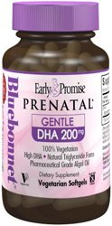 Bluebonnet Early Promise Prenatal Gentle DHA 200 mg Vegetable Capsules, 30 Count