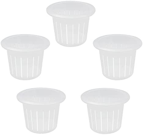 coisound 1688 5Pcs Orchid Breathable Slotted Clear Plastic Pot – Growers Assortment 7in