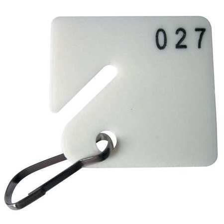 Numbered Hooks 100 (Key Tag Numbered 1 to 100, Square, PK100)