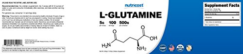Nutricost L-Glutamine Grams - Pure Glutamine per Serving -