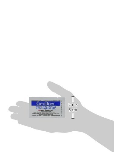 Cryoderm Packets (100 Packets) Travel Size 3 Gram Cryoderm Cooling Pain Relief Gel Packets (Perfect for Pockets, Purses, and Travel)