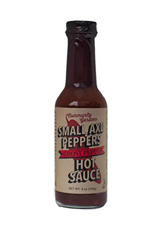 (Small Axe Peppers Ghost Pepper Hot Sauce, 5 oz- All Natural, Kosher, non-GMO, Community Garden Grown Ghost Pepper Gourmet Hot Sauce, Featured on HOT ONES!)