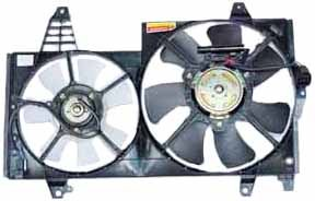 TYC 621250 Volvo 40 Series Replacement Radiator/Condenser Cooling Fan Assembly
