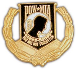 - POW/MIA Wreath Hat Pin