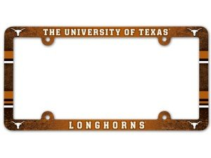 (NCAA Texas Longhorns Full Color License Plate Frame, Team Color, One Size)