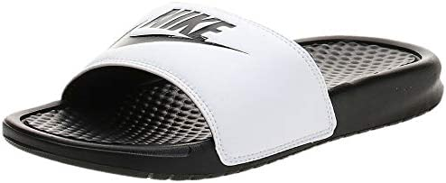 presupuesto Tropical Absoluto  Nike BENASSI JDI, Men's Fashion Sandals, White (White/Black), 37 EU: Buy  Online at Best Price in UAE - Amazon.ae