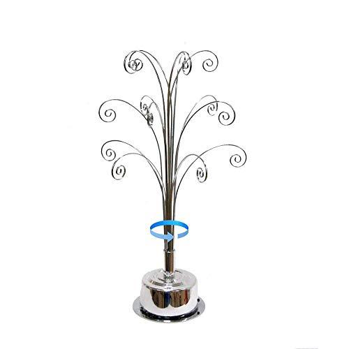HOHIYA for Swarovski 2019 Christmas Annual Snowflake Crystal Ornament Star Rotating Stand 16.75inch(Chrome)