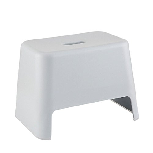 - Bath Stool,Modern Minimalist Thick Plastic Children's Shoe Bench,Anti-corrosion Waterproof Bathroom Stool For The Elderly,Size -33.2x22.7x23.2cm (Color : Gray)
