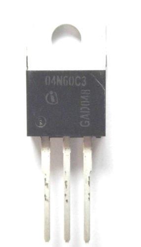 SPP04N60C3 Marked 04N60C3 Trans MOSFET N-CH 650V 4.5A 3-Pin TO-220 Infineon
