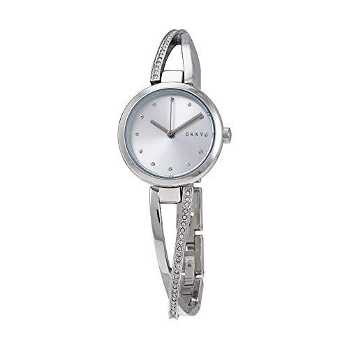 (DKNY Crosswalk Quartz Silver Dial Ladies Watch NY2792)