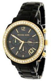 Michael Kors Black Acrylic Chronograph Ladies Watch (Michael Kors Acrylic Watch)