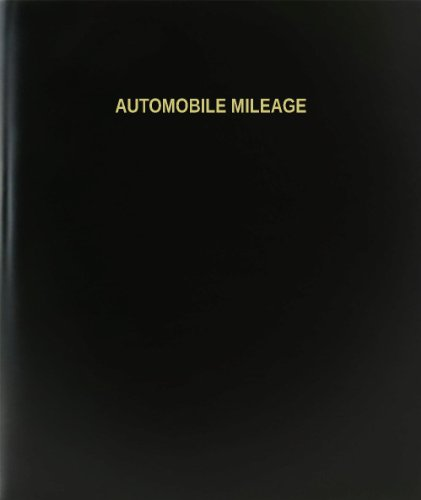 BookFactory® Automobile Mileage Log Book / Journal / Logbook - 120 Page, 8.5