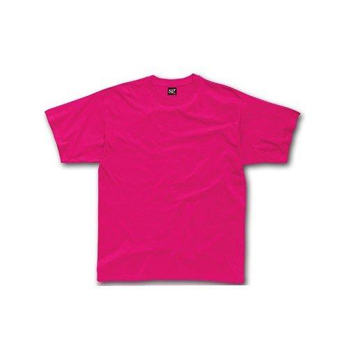 SG Childrens/Kids Little Girls Short Sleeve T-Shirt (5-6) (Dark Pink)