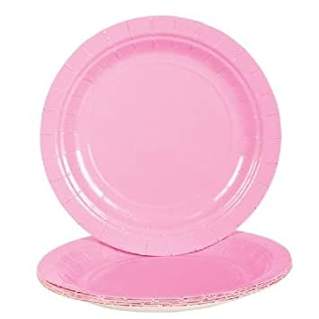 Light Pink Paper Plates (Bulk Pack of 25 Plates)  sc 1 st  Amazon.com : bulk paper plates cheap - pezcame.com