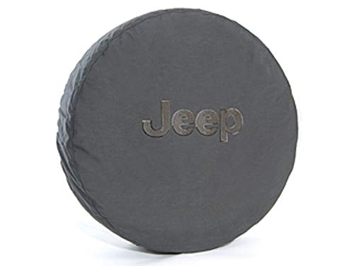 Jeep Wrangler Spare Tire Cover Anti-Theft with Grey Jeep logo