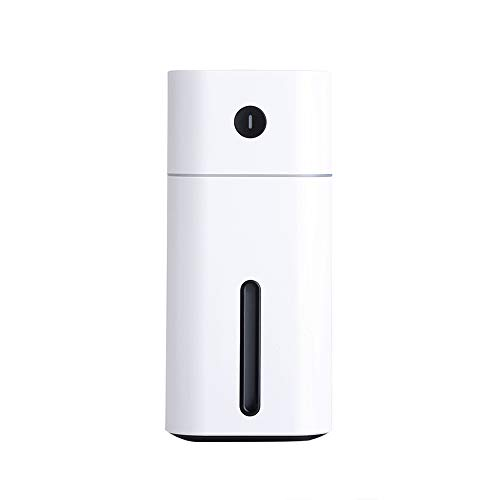 Price comparison product image Aroma Essential Oil Diffuser Mini Ultrasonic Square D Humidifier Air Purifier LED Night Light USB Car air freshener for Office (White)