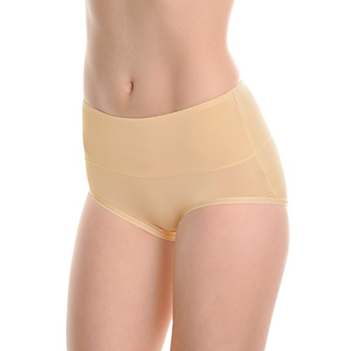 Angelina Ladies Underwear - Angelina Microfiber Classic High Waist Briefs (6-Pack), G3072_BWB_M