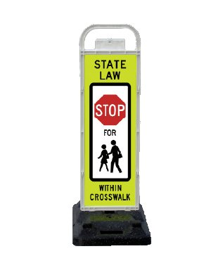 Sign School Crossing - VP-6536-STOP-FB VP-6500 Series STOP In-Street Pedestrian Crossing Systems for School Zones U-Frame, & 32lb U-Base