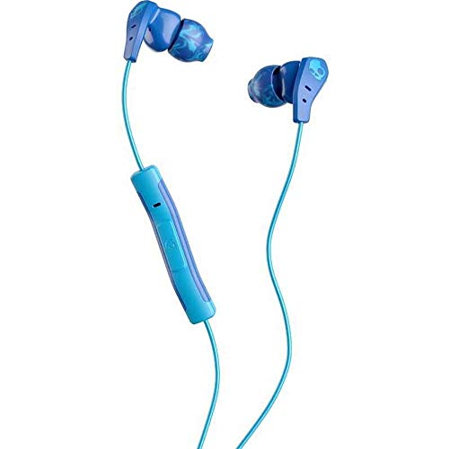 Skullcandy Method Sweat Resistant Sport Earbud with In-Line Microphone and Remote, Lightweight and Secure In-Ear Fit for Running and Exercise, Cable Management Clip for Workouts, Royal Blue