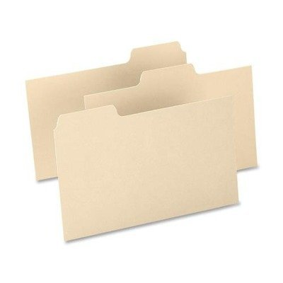 Oxford 1/3-cut Blank Tab Index Card Guide - Blank - 5quot; x 8quot; - 100 / Box - Buff Divider by Oxford