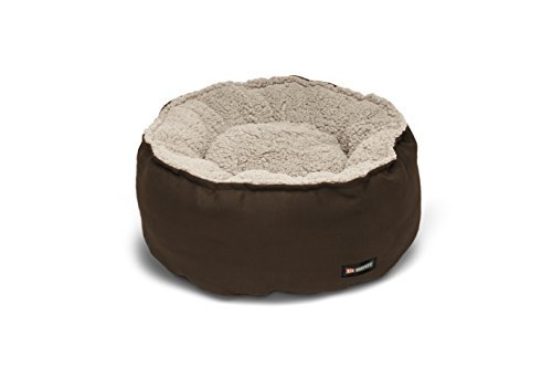 Big Shrimpy Catalina Plush Pet Bed for Cats and Small Dogs, Medium, Coffee by Big - Big Bed Shrimpy Catalina